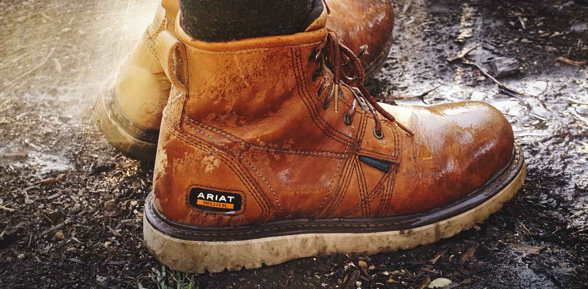 Photo of Ariat workboots in-use